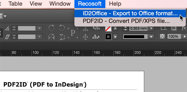 Export InDesign to Word format