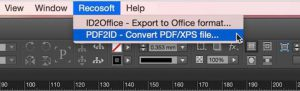 open pdf in indesign using PDF2ID