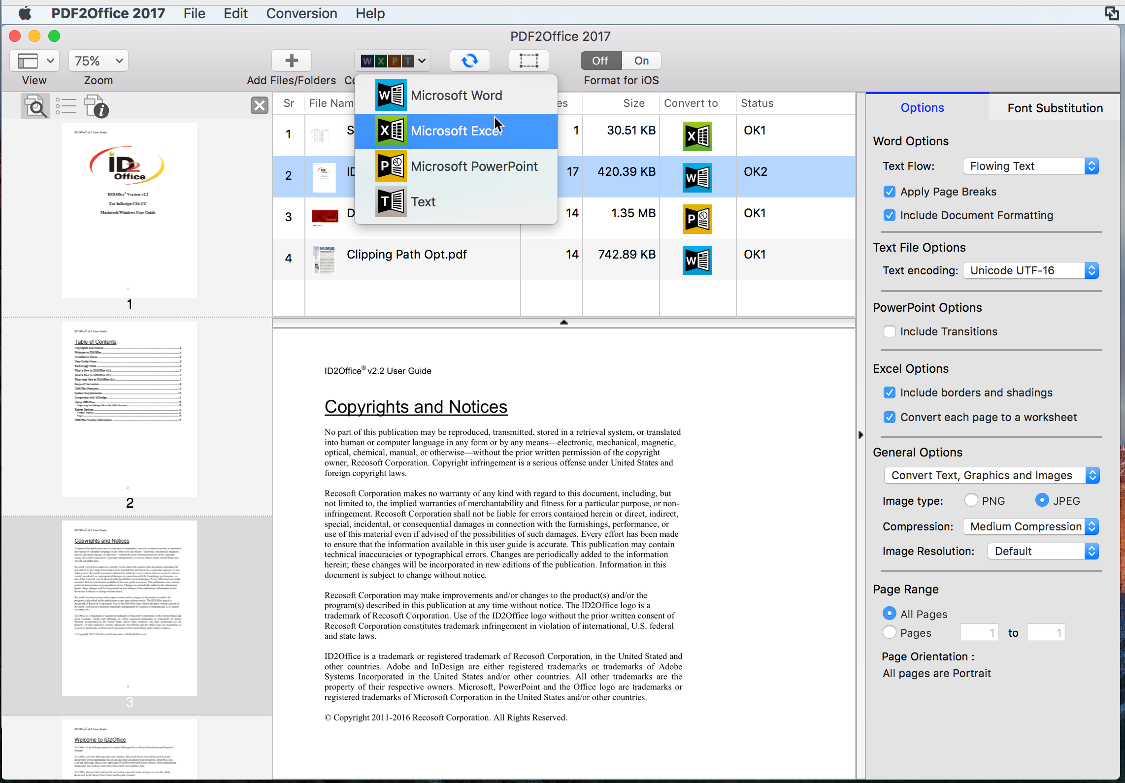 PDF to Office Converter for Mac, Convert PDF to Office formats