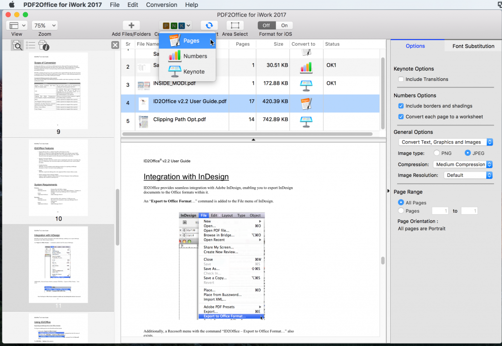 Convert pdf to iwork with pdf2office for iwork - Works to office converter ...