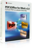 Convert PDFs to Numbers, Pages and Keynote formats