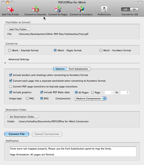 mac pages converter to pdf