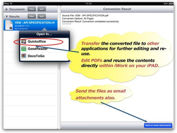 Edit PDF on iPad
