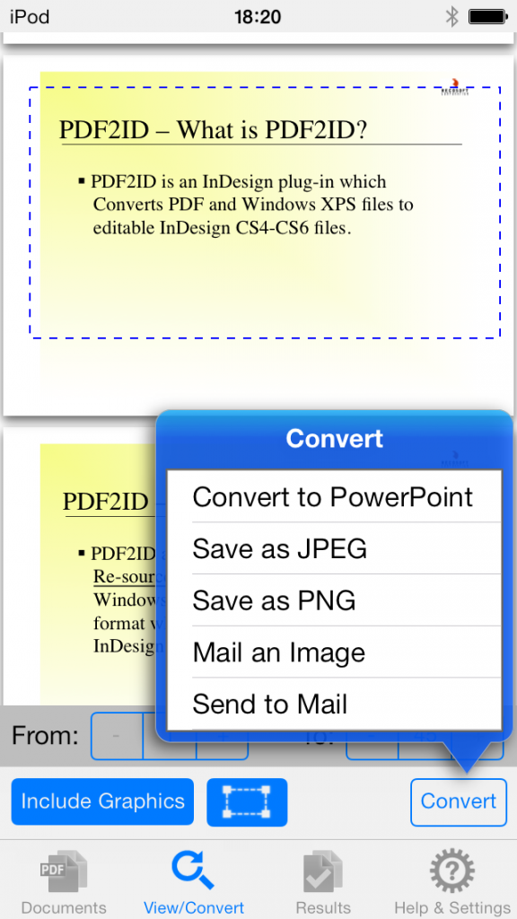 iOS app to convert pdf to ppt