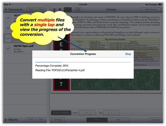 how to turn a doc into a pdf on ipad