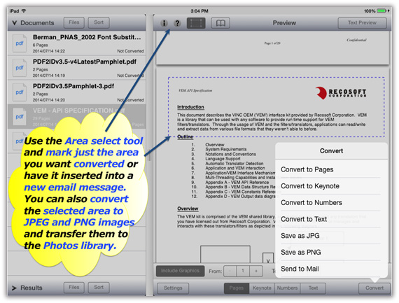 iPad PDF Converter for Pages
