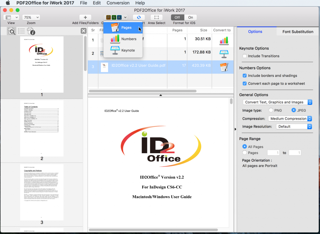 PDF to Keynote Conversion on Ma