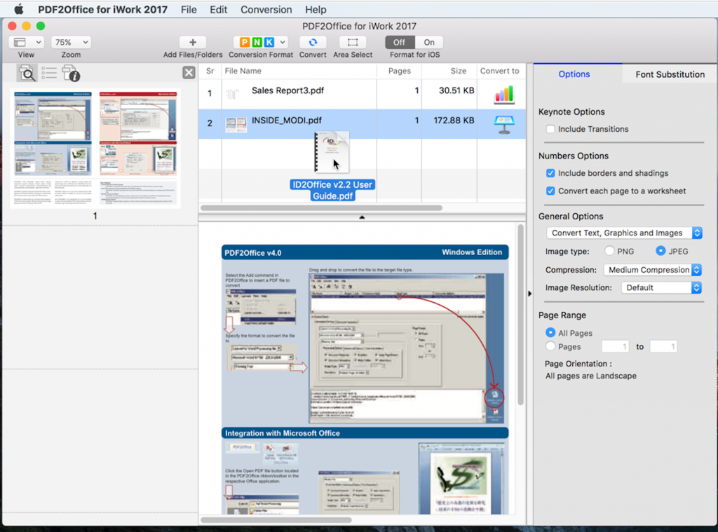 Converting PDF to Apple Pages on Mac